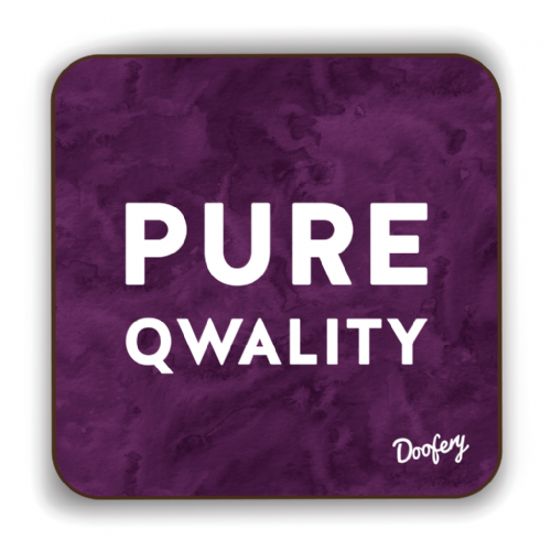Doofery - Pure Qwality - Coaster - Purple